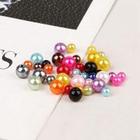 ABS-Kunststoff-Perlen, ABS Kunststoff, rund, Einbrennlack, DIY & verschiedene Größen vorhanden & Nachahmung Perle, keine, verkauft von Tasche