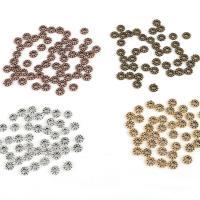 Zinklegierung Zwischenperlen, plattiert, DIY, keine, frei von Nickel, Blei & Kadmium, 6x2mm, Bohrung:ca. 2mm, 50PCs/Tasche, verkauft von Tasche