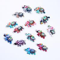 Tier Zinklegierung Schmuckverbinder, Elephant, silberfarben plattiert, DIY & für Frau, keine, frei von Nickel, Blei & Kadmium, 26x13x0.20mm, verkauft von PC