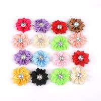 Stoff Zubehör, Blume, DIY & mit Strass, keine, 4cm, 20PCs/Tasche, verkauft von Tasche