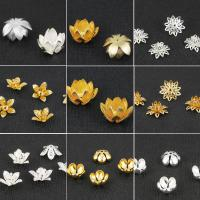Messing Perlenkappe, Blume, plattiert, DIY & verschiedene Stile für Wahl, keine, frei von Nickel, Blei & Kadmium, verkauft von PC