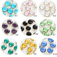 Kristall Anhänger, Dom, goldfarben plattiert, DIY & facettierte, mehrere Farben vorhanden, 16mm, 10PCs/Tasche, verkauft von Tasche