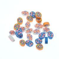 Polymer Ton Perlen , gemischte Farben, frei von Nickel, Blei & Kadmium, 15*12~21*15, 1000/Tasche, verkauft von Tasche