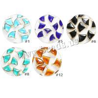 Kristall Anhänger, Fach, goldfarben plattiert, DIY & facettierte, mehrere Farben vorhanden, 14mm, 10PCs/Tasche, verkauft von Tasche