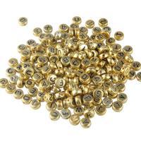 Polymer Ton Perlen , Acryl, gemischtes Muster & DIY & Emaille, goldfarben, 7mm, 100PCs/Tasche, verkauft von Tasche