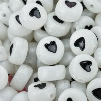Acryl Perle, DIY & glänzend & Emaille, weiß, 4x7mm, 100PCs/Tasche, verkauft von Tasche