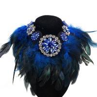 Kragen Halskette, Kristall, mit Feder, für Frau, mehrere Farben vorhanden, verkauft per ca. 20.08 ZollInch Strang