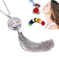 Parfüm Medaillon Halskette, Edelstahl, plattiert, unisex & verschiedene Stile für Wahl, 600x100x20mm, verkauft von PC