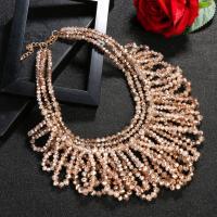 Kristall Halskette, Tropfen, plattiert, unisex, 420mm,240mm, verkauft von Paar