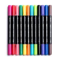 Kunststoff Wasser Farbstift, verschiedene Stile für Wahl, gemischte Farben, 150mm, 10BoxenFeld/Menge, verkauft von Menge
