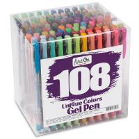 Kunststoff Gelschreiber, farbige Mine, gemischte Farben, 150mm, 108PCs/setzen, verkauft von setzen