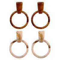 Acryl Schmuck Ohrring, Harz, für Frau, keine, 55mm, verkauft von Paar