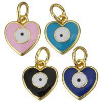 Messing Herz Anhänger, goldfarben plattiert, DIY & Emaille, keine, 12x2x13mm, Bohrung:ca. 4.5mm, 20PCs/Menge, verkauft von Menge