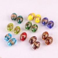 Goldsand Lampwork Perlen, DIY & verschiedene Größen vorhanden, keine, Bohrung:ca. 1.5mm, verkauft von PC