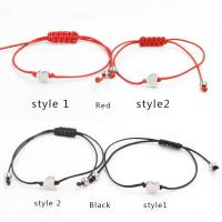 Mode Wachsschnur Armbänder, mit Edelstahl, handgemacht, verschiedene Stile für Wahl, keine, 3x8mm, Länge:7 ZollInch, 5PCs/Menge, verkauft von Menge