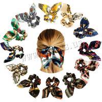 Draht Bun -Bogen, Stoff, mit Kunststoff Perlen, Kunstdruck, elastisch & verschiedene Muster für Wahl, keine, 90mm, verkauft von PC