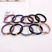 Pferdeschwanz-Halter, elastische Nylonschnur, elastisch & für Frau, keine, frei von Nickel, Blei & Kadmium, 55mm, verkauft von PC