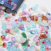 Haarstock-Befunde, Lampwork, gemischte Farben, 3~12mm, 580PCs/Tasche, verkauft von Tasche