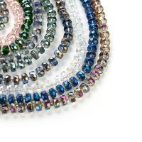 Kristall-Perlen, Lampwork, mit Kristall, plattiert, handgefertigt & DIY, keine, 8MM, verkauft von Strang