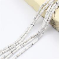 Türkis Perlen, Natürlicher weißer Türkis, poliert, DIY, grün, 2x4mm, Länge:ca. 15.4 ZollInch, 2SträngeStrang/Tasche, 98PCs/Strang, verkauft von Tasche