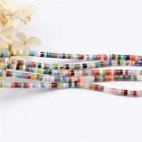 Mischedelstein Perlen, Edelstein, poliert, DIY, gemischte Farben, 2x4mm, Länge:ca. 15.4 ZollInch, 2SträngeStrang/Tasche, ca. 98PCs/Strang, verkauft von Tasche