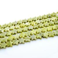Edelstein Schmuckperlen, Stern, poliert, DIY, grün, 12mm, Länge:ca. 15.4 ZollInch, 2SträngeStrang/Tasche, ca. 33PCs/Strang, verkauft von Tasche