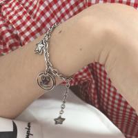 Edelstahl Schmuck Armband, plattiert, für Frau, 15x15mm,13x13mm, verkauft per ca. 7.9 ZollInch Strang
