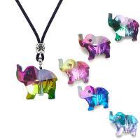 Glas Anhänger, Elephant, Einbrennlack, DIY, keine, 18mm, 20PCs/Menge, verkauft von Menge