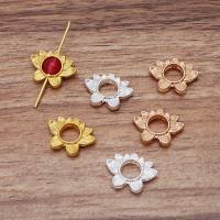 Blume Zinklegierung Schmuckverbinder, plattiert, DIY, keine, 13x18mm, 100PCs/Tasche, verkauft von Tasche
