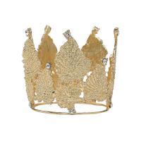 Krone, Zinklegierung, goldfarben plattiert, mit Strass & hohl, metallische Farbe plattiert, 70x75mm, 10PCs/Menge, verkauft von Menge