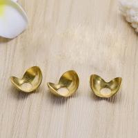 Messing Perlenkappe, DIY, keine, frei von Nickel, Blei & Kadmium, 14x0.50x8.70mm, Bohrung:ca. 4mm, 100PCs/Tasche, verkauft von Tasche