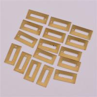 Messing Schmuck Anhänger, Rechteck, DIY, originale Farbe, frei von Nickel, Blei & Kadmium, 19.30x9.40x0.40mm, Bohrung:ca. 1mm, 500PCs/Tasche, verkauft von Tasche