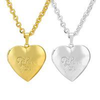 Messing Halskette, Herz, plattiert, unisex, keine, frei von Nickel, Blei & Kadmium, 550x37x28mm, verkauft von PC