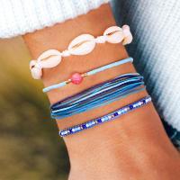 Mode Wachsschnur Armbänder, mit Seedbead, gemischte Farben, verkauft von PC