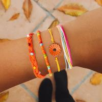 Mode Wachsschnur Armbänder, gemischte Farben, verkauft von setzen