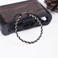 Mode Wachsschnur Armbänder, schwarz, verkauft von PC