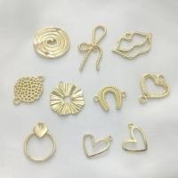 Zinklegierung Schmuckverbinder, plattiert, verschiedene Stile für Wahl, Goldfarbe, frei von Nickel, Blei & Kadmium, 100PCs/Tasche, verkauft von Tasche