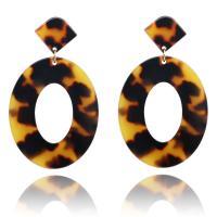 Acryl Tropfen Ohrring, Kreisring, für Frau & hohl, keine, 40x68mm, 5PaarePärchen/Menge, verkauft von Menge