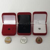 Schmuck Geschenkkarton, Beflockung Stoff, mit Kunststoff, keine, 52x58x24mm, 10PCs/Menge, verkauft von Menge