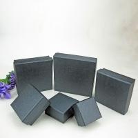Schmuck Geschenkkarton, Papier, Quadrat, verschiedene Größen vorhanden, schwarz, 50PCs/Menge, verkauft von Menge